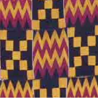 <p>Travel through Evans Court to the African Galleries. This mighty cloth is full of geometric shapes that have specific meanings and is worn for special occasions. What do you wear for special occasions?</p>