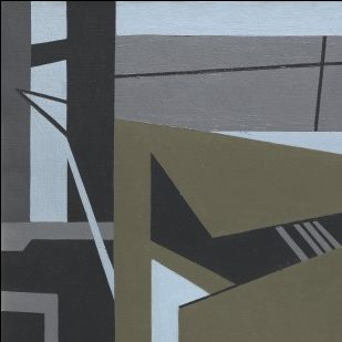 <p>This artist was inspired by the shapes found in skyscrapers.<br /> What geometric shapes can you see?</p>