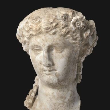 <p>Ancient Art Gallery, Level 2</p> <p>Agrippina, mother of the infamous Emperor Caligula, sports a hairstyle with waves in the front—similar to the portrayal of goddesses—while in the back she displays cork-screw curls, her signature style that became a trend in her day. What celebrity hair trends are popular now?</p>