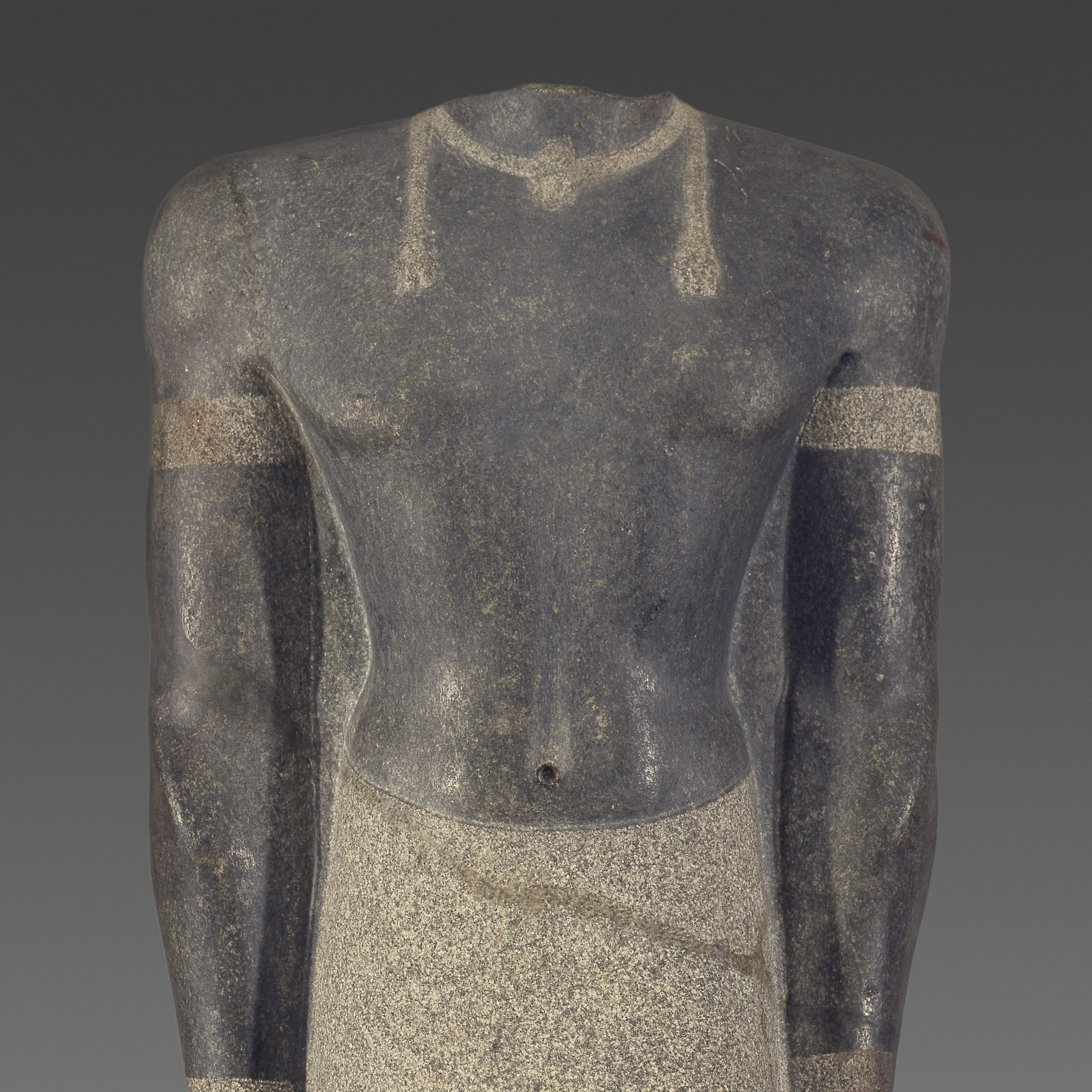 <p>Begin in the Ancient Egyptian Gallery on Level 2. Have fun!</p> <p>A man in a skirt never looked so good. Find this figure and name the article of clothing he's wearing.</p>