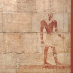 <p>Walk like an Egyptian as you make your way to the red room with columns outside the Ancient Galleries to find this huge wall relief. List three animals on this plaster cast.</p>