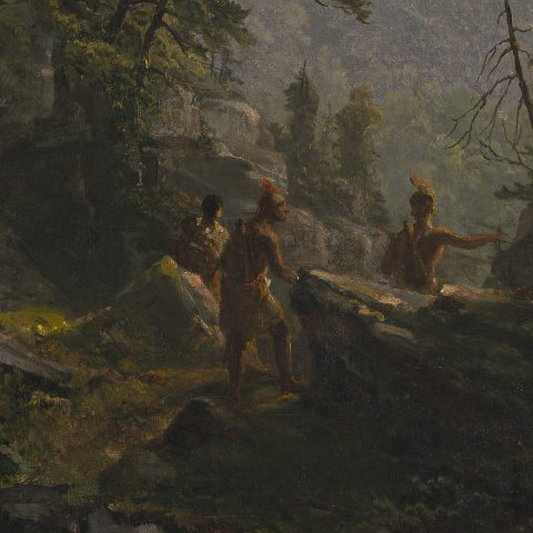 <p>We are a group of Native Americans painted by Asher B. Durand in 1853 at a time when the United States was considering routes for a transcontinental railway and the country continued to be transformed by the Industrial Revolution.  Imagine you are one of us.  As we stand looking out over the vast landscape depicted by Durand, what do you see?  What might you care most about as you consider this vista?  What concerns do you have? </p>