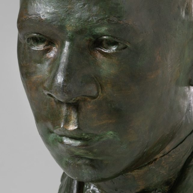 <p>American Galleries- Modernism:</p> <p>Created by Richmond Barthé, a twentieth-century African American sculptor, this bust honors Booker T. Washington. A political leader, educator, and social activist, Washington influenced and led many African American movements in the United States. With so many accomplishments, why might the artist have created a bust without any details about his actions? In what ways can artists commemorate a person's actions and legacies?</p>