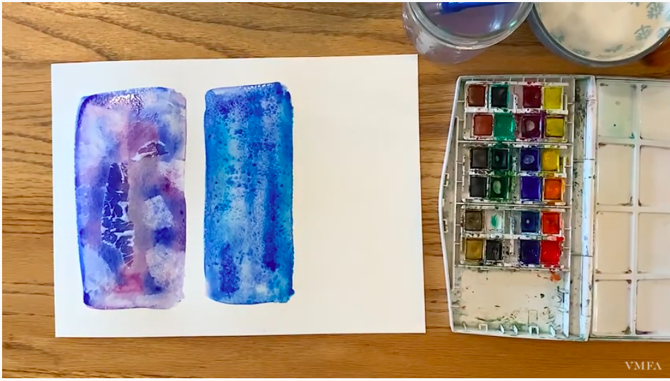 Watercolor Tips for Teens: Lifting & Using Salt Art Activity Video